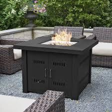uniflame 55 in decorative slate tile lp gas outdoor