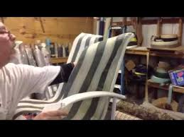 Diy Replace Patio Chair Sling by How To Remove An Old Chair Sling Youtube