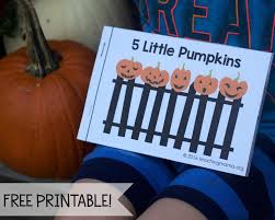Printable Pumpkin Books For Preschoolers by Five Little Pumpkins Free Rhyme Booklet