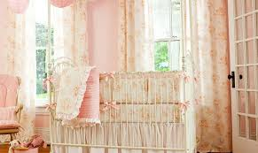 Peach Curtains For Nursery by 10 Shabby Chic Nurseries With Charming Pink Radiance