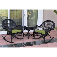 Jeco 3 Piece Santa Maria Black Wicker Rocker Chair Set Kampmann Outdoor Wicker Rocking Chair With Cushions Harmony Patio Blackwhite Mesh Cast Alinum Frame On Porch Black Resin Indoor Chairs Elegant 52 Currituck Sophisticated Relaxing Ratan Fniture Acceptable Antique Prices Buy Pricesratan 3pc Rocker Set With Brick Red Cushion Intertional Caravan San Tropez Gliders Rockers Sale Kmart Childrens