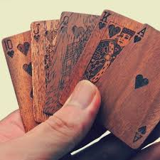 Wooden Deck Of Cards Seems Like A Great Gift For Men Good DIY Project To Make With Wood Stain