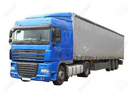 100 Big Blue Truck Isolated Over White Stock Photo Picture And