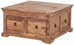 truhentisch bombay sheesham massivholz 90x90 cm couchtisch beistelltisch wohnzimmer truhe holz tisch home24 neu