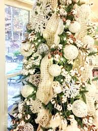 Winter Wonderland Christmas Tree Gorgeous With Cotton Bolls And Cute Forest Creatures Perfect To Leave Led