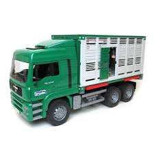 1/16th Livestock Fully Functional Transport Truck W/Cow By Bruder