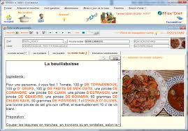 logiciel recette cuisine a table