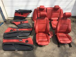 E92 Full Coral Red Interior Sport Seats Door Panels Front Rear Seats