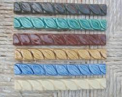 ceramic tile handmade 3 4x6 braid listello