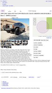 100 Phoenix Craigslist Cars And Trucks At 8750 Is This 1995 GMC Yukon SLT The FourByFour For You