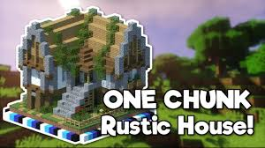 100 Rustic House Minecraft In ONE CHUNK Tutorial YouTube