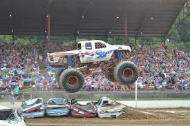 100 Monster Trucks Crashing Full Throttle