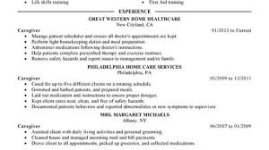 Unforgettable Caregiver Resume Examples To Stand Out ...