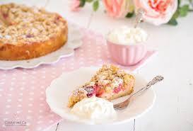 rhabarber streuselkuchen mit pudding cookie und co