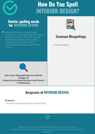 100 Words For Interior Design Correct Spelling For Interior Design Infographic