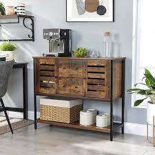 vasagle sideboard schrank mit 2 schubladen und türen 1 ablage für esszimmer wohnzimmer küche 100 x 35 x 84 5 cm industrie design