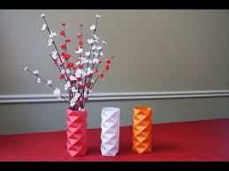 Paper Flower Vase Youtube New How To Make A Sleeve Of