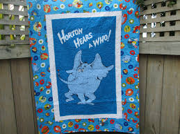 Dr Seuss Baby Bedding by Dr Seuss Baby Quilt Horton Hears A Who Unisex Crib Bedding