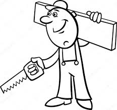 Travailleurs Ou Constructeurs Caractères Coloriages Cliparts