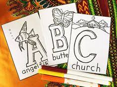 Baby Shower Game Decoration ABC Coloring Book 4 X 6 Memory