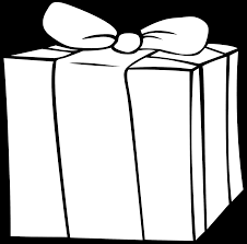 birthday presents clipart black and white