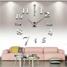 design acryl wanduhr 3d wandtattoo modern diy deko spiegel