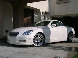 Pearl white Lexus SC430 with saddle leather