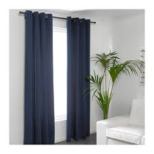 merete curtains 1 pair blue 145x250 cm ikea