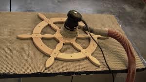 Sailboat Wheel Wall Decor by Diy Ships Helm Steering Wheel Nautical Decor Youtube