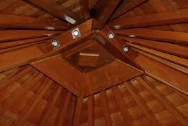 100 Wooden Ceiling Merbau Gazebo Wooden Roof For Bars For Wellness Center