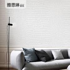gute qualität 3d banana blatt tapete wohnzimmer moderne unbedeutende solide farbe weiß tapete nordic krokodil haut muster