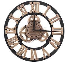 vintage wanduhr 3d handgefertigte römische ziffer wanduhren industriegetriebe europäischen retro uhren kreative kunst dekoration für wohnzimmer