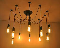 spider l chandelier industrial kitchen pendant light multi