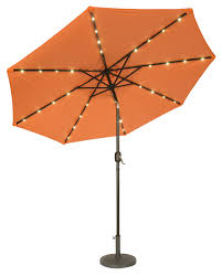 9 deluxe solar powered led lighted patio umbrella by trademark
