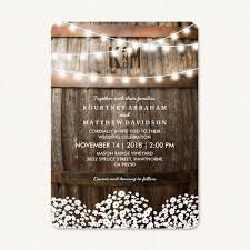 Rustic Country String Of Lights Style Wedding Invitations
