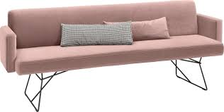 polsterbank nevada rosa material velours polyester