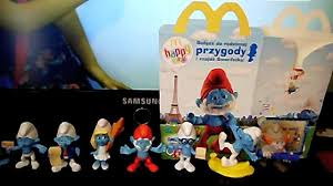 Smurfs 2 Toys Series One Complete Set In A Happy Meal From McDonalds Poland 2013
