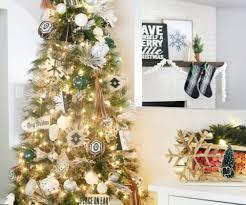 Black White Modern Snowflake Christmas Tree Decor