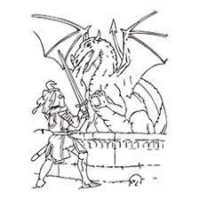Knight Coloring Pages For Dragon