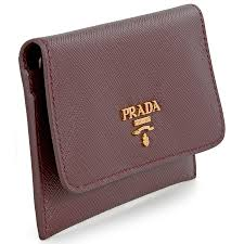 prada saffiano leather credit card holder granato prada
