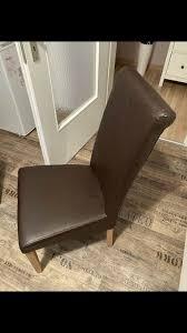 2 4 stühle holz lederstuhl braun esszimmer stuhl