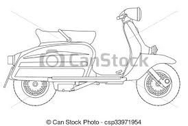 Scooter Outline Drawing A Typical 1960 Style Motor