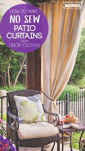 Sunbrella Curtains With Grommets by Diy Patio Curtains From Drop Cloths With No Sewing Scattered