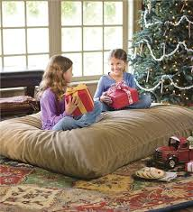 Oversized Floor Pillow With Removable Stain Resistant Cover