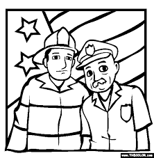 Heroes Coloring Page Labor Day Holiday