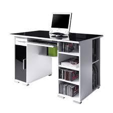 bureau blanc et winsome bureau blanc et noir informatique design laqu lisandra 1