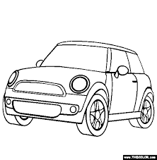 Mini Cooper Coloring Page