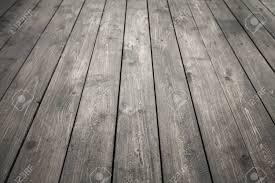 Dark Gray Wooden Floor Background Photo Texture With Perspective Effect Stock