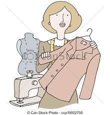 Female Fashion Designer An Image Of A Garment Clipart