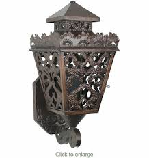punched tin colonial wall sconce